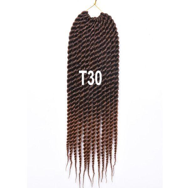 "Havana Mambo Twist 18"" 12roots 85g/pack Kanekalon Crochet Hair"
