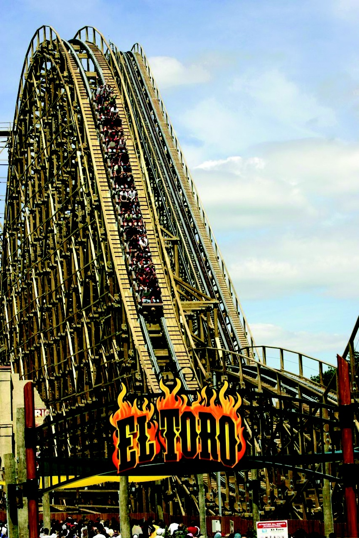 El Toro, Six Flags Great Adventure, the steepest wooden roller coaster in the world, and currently ranked #1 as best wooden roller coaster