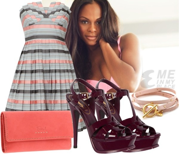 """""""Fashion Icon : Tika Sumpter"""" by lytalie ❤ liked on Polyvore"""