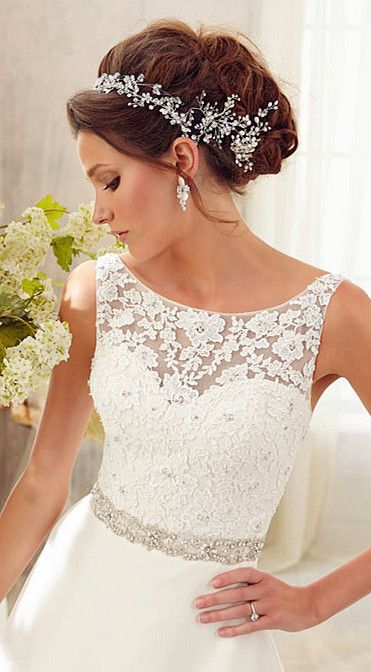 wedding dress wedding dresses - pretty front with lace