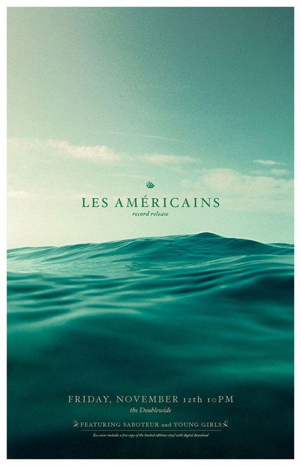 海報/很飽和且不透明的海洋有更穩重的感覺,字體也選的很好,喜歡有層次又一致的色調