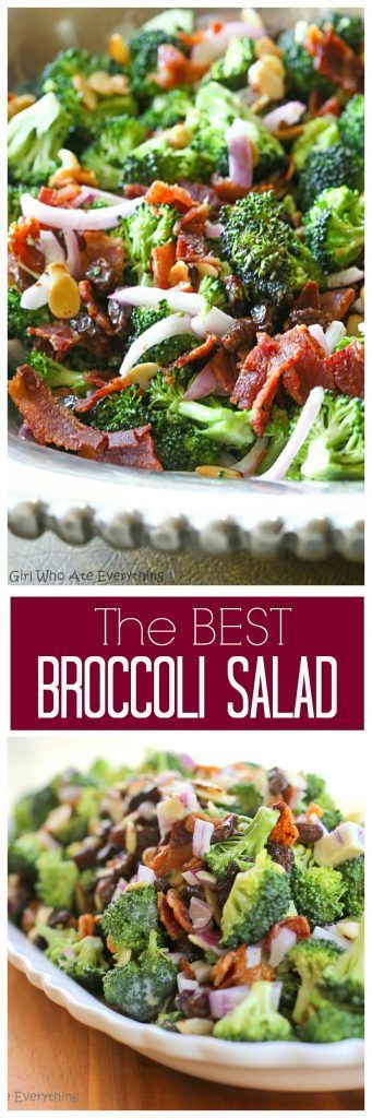 The BEST Broccoli Salad - believe me I've tried them all but this is the best Broccoli Salad out there. the-girl-who-ate-everything.com