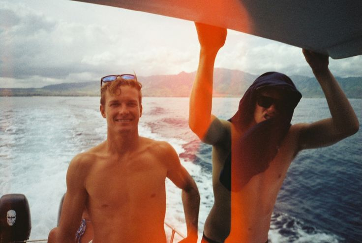 Johnson Florence — hellofromhawaii: out at sea with Erik & JJ...