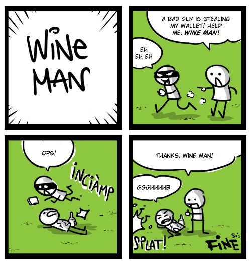 WINE MAN saves the day!