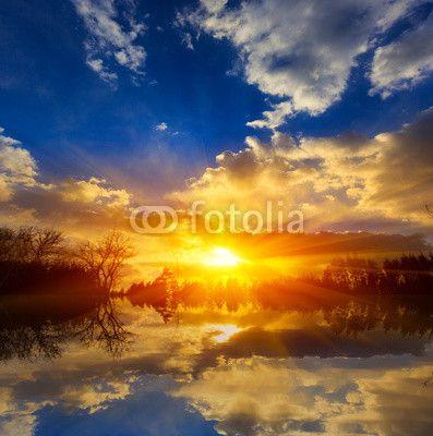 Sunset on lake ©Pavel Klimenko
