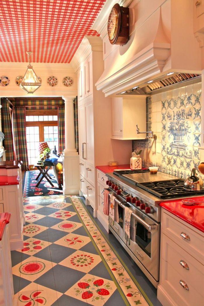 zimmerdecken-küche-farbige-decke-krasse-akzente.jpg 700×1.050 Pixel