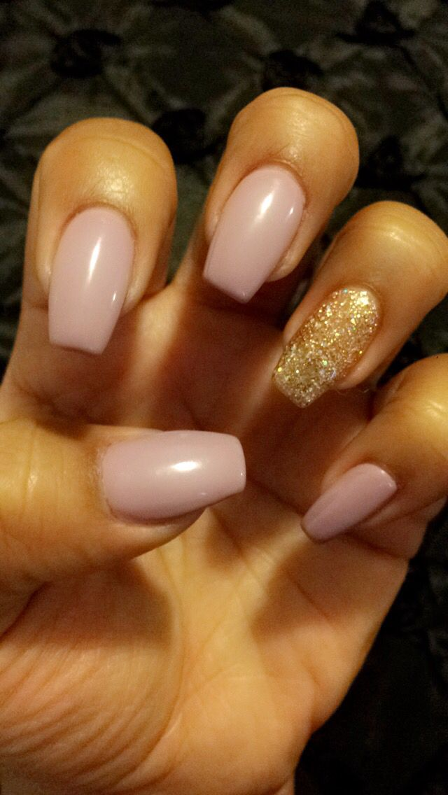 Medium length coffin gel nail   Nails   Pinterest ...