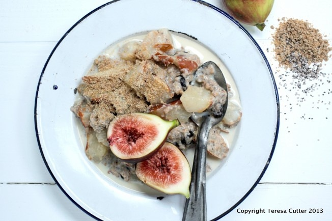 Gluten Free Chia and Blackseed Porridge with Figs. Available at the Fusion Cafe!
