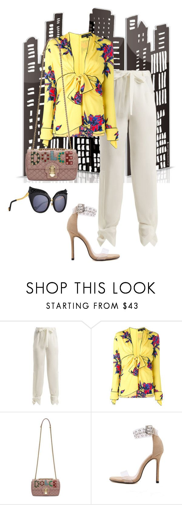 """Untitled #354"" by ilich-moreno ❤ liked on Polyvore featuring Roland Mouret, Proenza Schouler, Dolce&Gabbana, WithChic and Anna-Karin Karlsson"