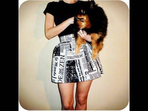 Tutorial DIY: falda básica tableada (newspaper print) - YouTube