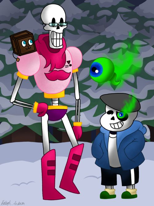 geekygirlme: jacksepticeye and markiplier in Undertale!