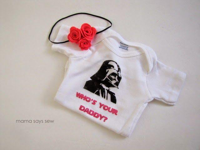 Nerd Alert: DIY Starwars Baby Bodysuits