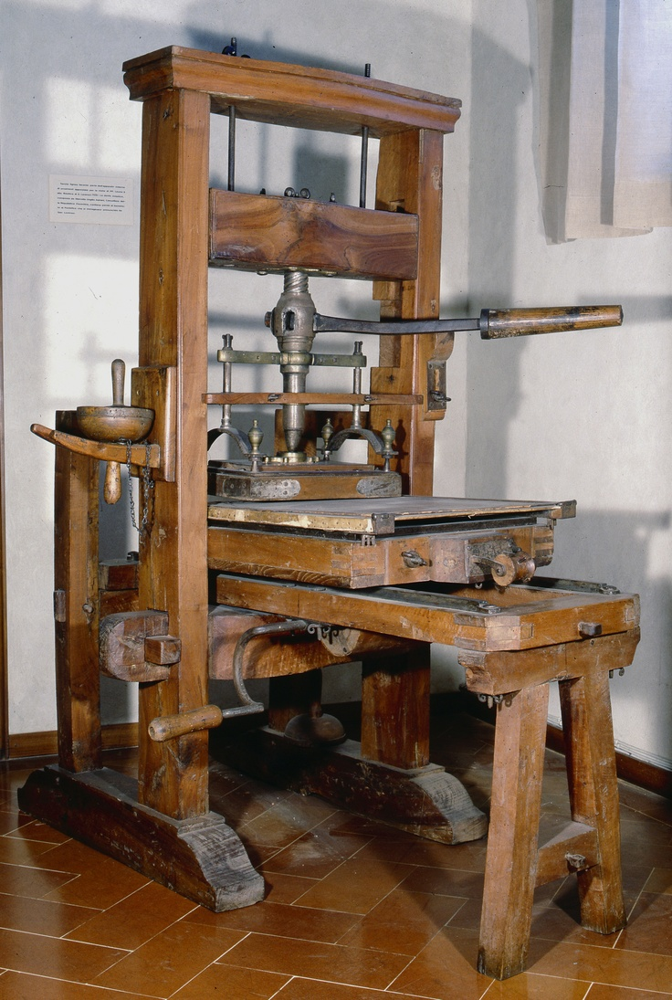 Biblioteca Laurenziana, Firenze - Torchio della Tipografia medicea orientale
