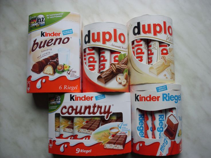 Ferrero Chocolate Kinder Country Duplo Hanuta Bueno Giotto chocolate. Oh My God White Duplo