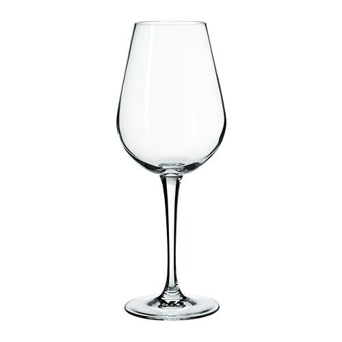 IKEA HEDERLIG White wine glass Clear glass 35 cl The glass has an elongated bowl which keeps the wine cool and makes the aromas more distinct, enhancing ...