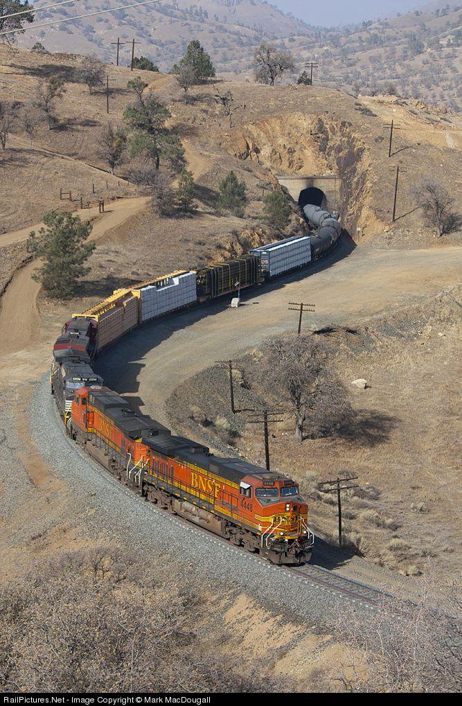 RailPictures.Net Photo: BNSF 4448 BNSF Railway GE C44-9W (Dash 9-44CW) at Marcel, California by Mark MacDougall | Trains | Pinterest | Bnsf railway, Train and …