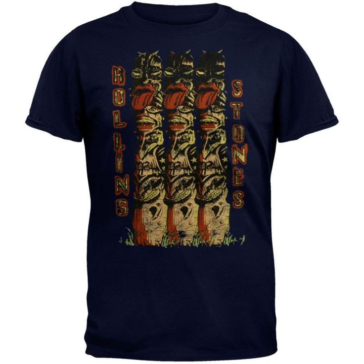 Rolling Stones -Statues Navy T-Shirt