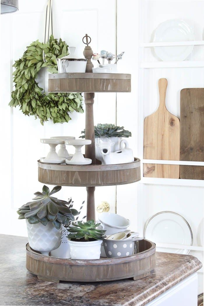 I Love Tiered Trays In The Kitchen Hometalk Fall