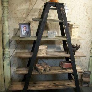 Wood Ladder Shelving Units