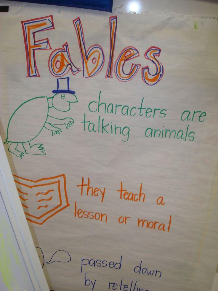 Fables anchor chart | Reader's Workshop | Pinterest | 2nd ...