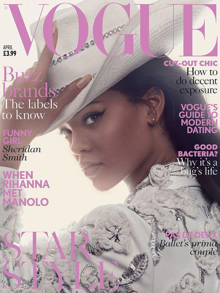 Rihanna on Vogue UK magazine April 2016 Cover