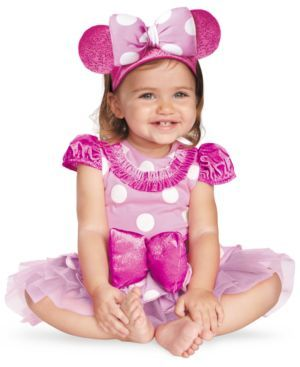 Disney Baby Costume, Baby Girls Pink Minnie Mouse Prestige Costume