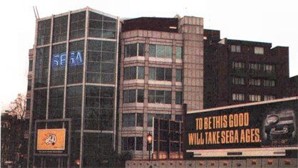 Commodore - a billboard for the CD32 trolling Sega outside their offices in the UK.