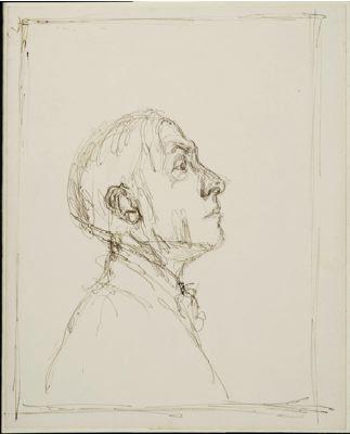 Profil de Pierre Reverdy - Alberto Giacometti - 1962 - Collection Particulière #Giacometti