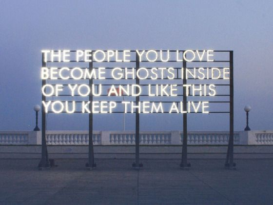 Robert Montgomery: Echoes of Voices in the High Towers by mono.kultur, via Kickstarter.
