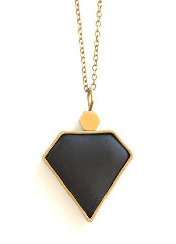 Black Diamond Pendant www.cloudninecreative.co.nz