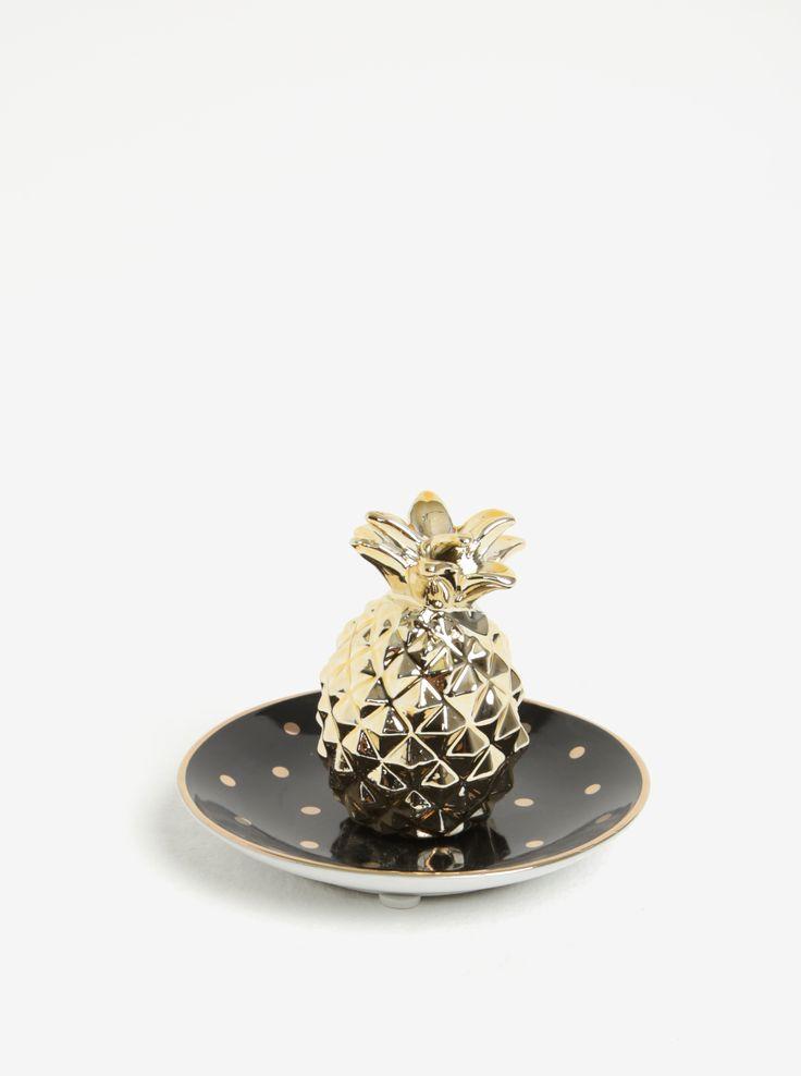 Tip: suport de bijuterii in forma de ananasCuloare: negru, auriuTema: ananasMaterial: ceramicaCalitatile materialului: solid Dimensiuni: 10 x 10 x...