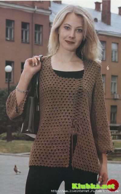 Openwork crochet cardigan
