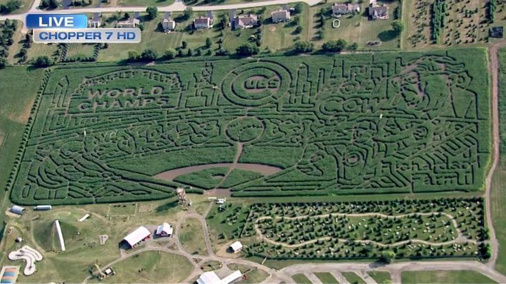 The Richardson Adventure Farm's 2017 corn maze in northern Illinois debuted on Friday and was caught on camera by Chopper 7 HD.
