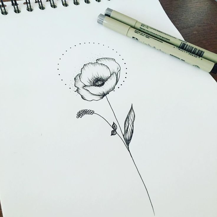 Image result for minimalist poppies tattoo