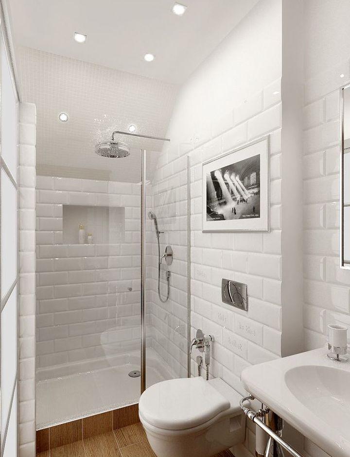 25 best ideas about salle de bain blanche on pinterest - Piastrelle diamantate bagno ...