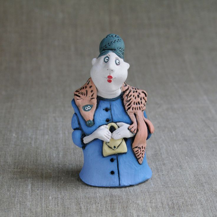 "Ceramic figurine ""Our Auntie"" by KuklaArt on Etsy"