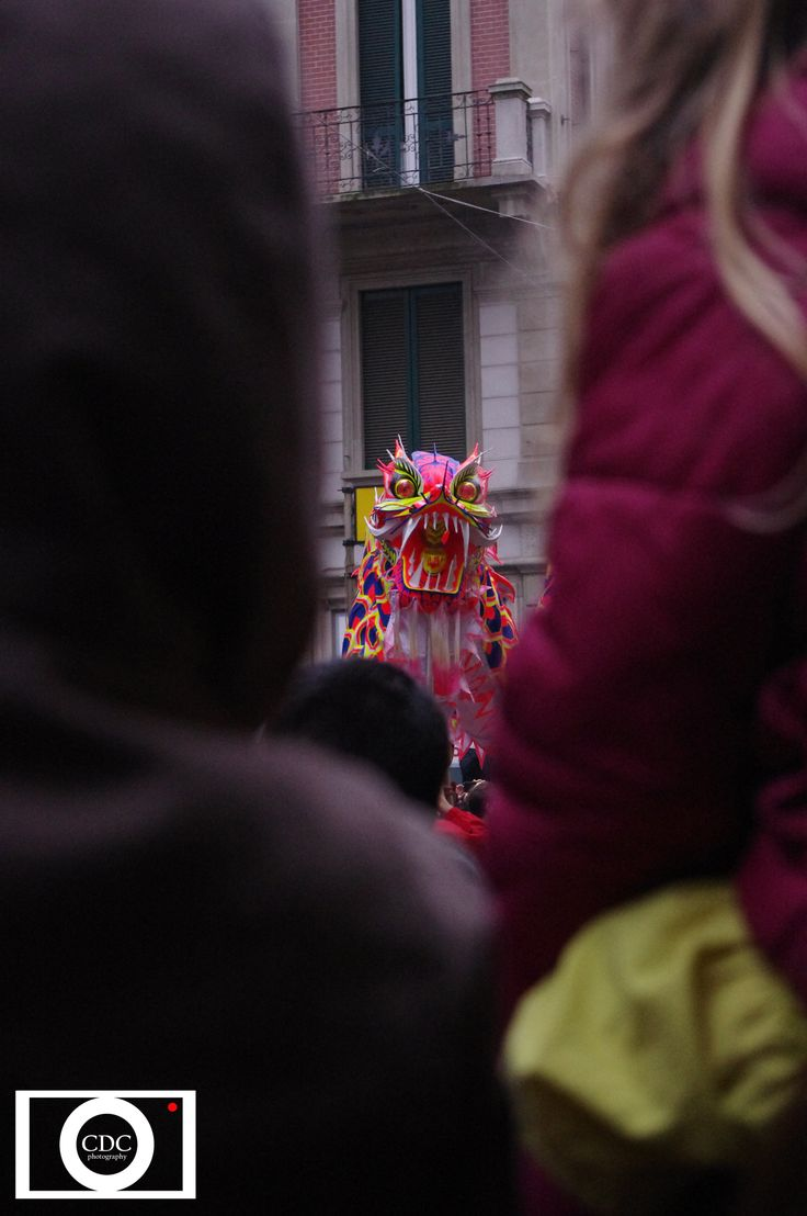 Chinese New Year dragon girl crowd cdc photography photo by cecilia de conti