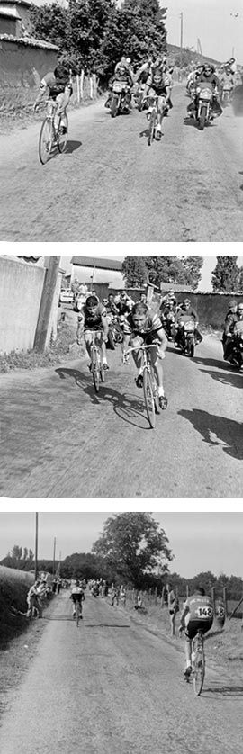 Raymond Poulidor started the time trial from Bourgoin to Lyons on 13 July 1962 before Jacques Anquetil, but Anquetil caught up and overtook him.