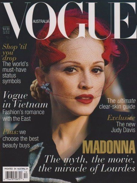 VOGUE AUSTRALIA MADONNA  Photo by Steven Meisel Vogue Australia December 1996