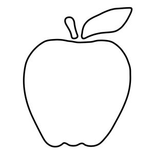 free applique pattern - apple
