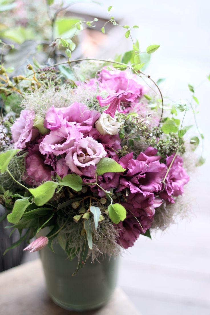 トルコキキョウ/スモークツリー/ブーケ/花束/花どうらく/花屋/http://www.hanadouraku.com/bouquet