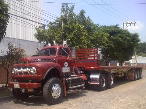 Some Ford trucks working Colombia South America