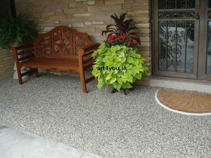 Porch v Clevelande. šedý mramor frakcie 1,0 - 1,5cm.  #art4you #art4youpodlahy #kamennykoberec #kamenny #koberec #podlaha #podlahy #liatepodlahy