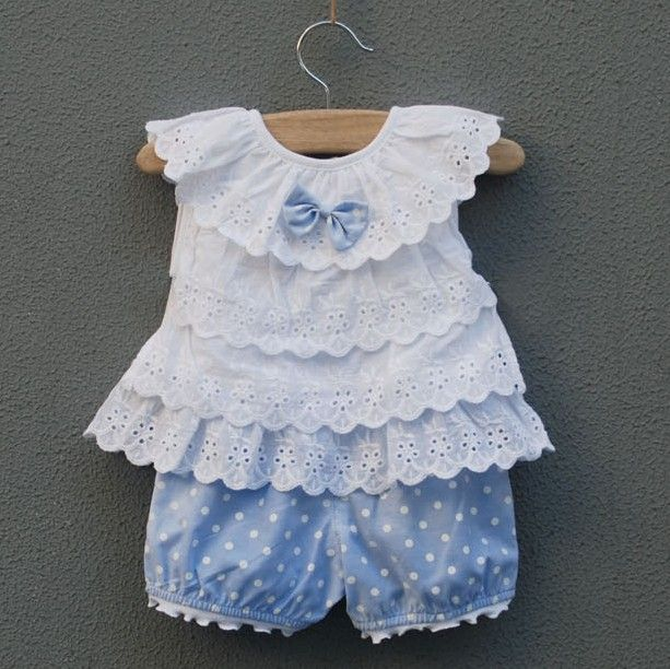 10%discount Female baby clothes children's clothing 0   24months princess suits summer set lovely baby girls set  vest + shorts-inClothing Sets from Apparel  Accessories on Aliexpress.com $11.90