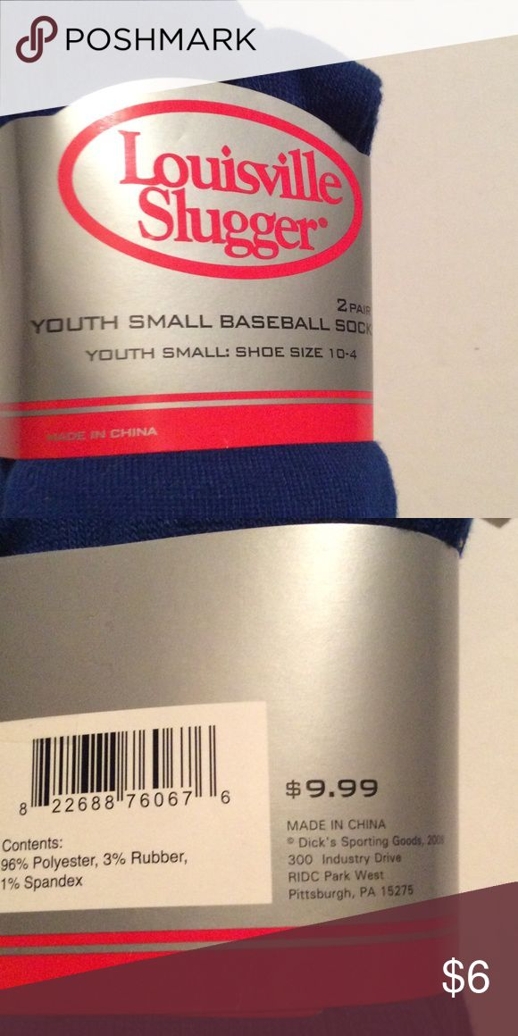 2 pair of Youth Baseball socks.. Clearance! Shoes size 10-4 .great quality baseball sock for children. Louisville Slugger Accessories