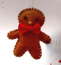 DoCrafts Mini Soft Christmas Kits - Gingerbread Man.  Perfect for making your own Xmas Tree Decorations.
