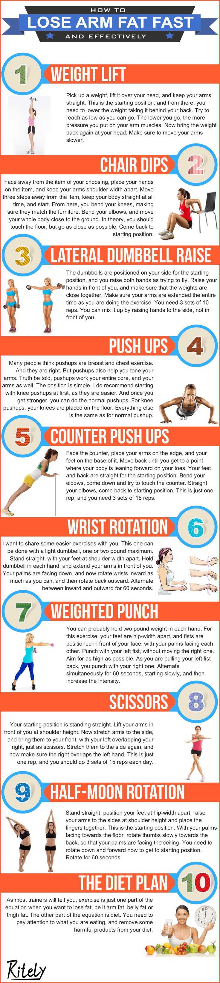 Best 25 lose arm fat ideas on pinterest arm flab arm fat and how to lose arm fat fast and effectively ccuart Images