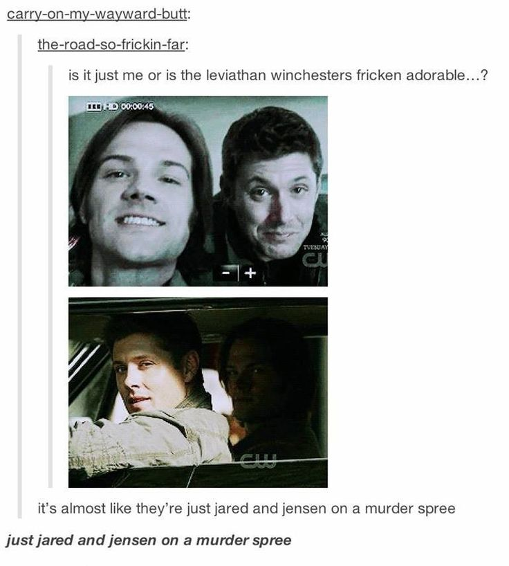 Just Jared and Jensen on a murder spree