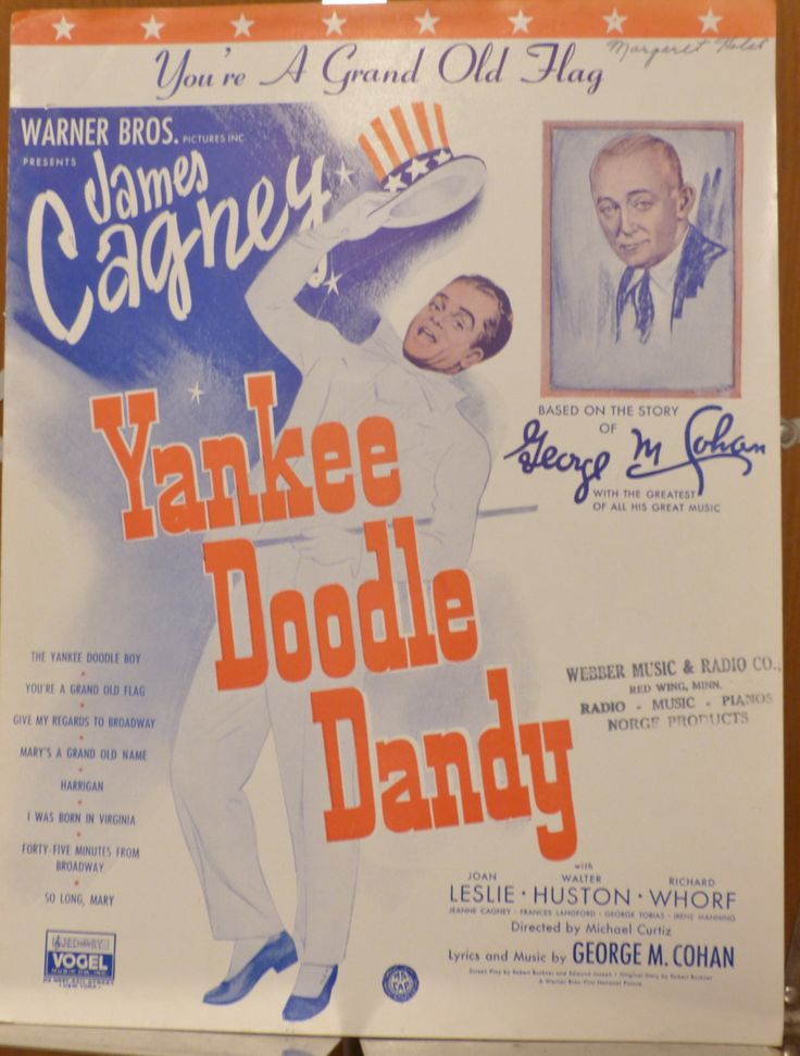 You're a Grand Old Flag, Yankee Doodle Dandy, vintage sheet music, James Cagney, antique sheet music, 1933 sheet music, collectible music by landsTreasures on Etsy