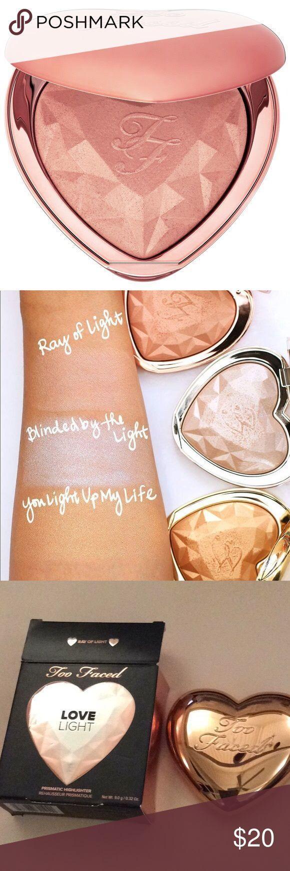 NIB TOO FACED Love Light Prismatic Highlighter Brand new full size 0.32 oz in RA…